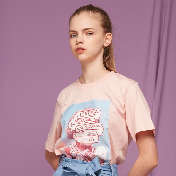 페스티벌 포스터 반팔티 (핑크)
