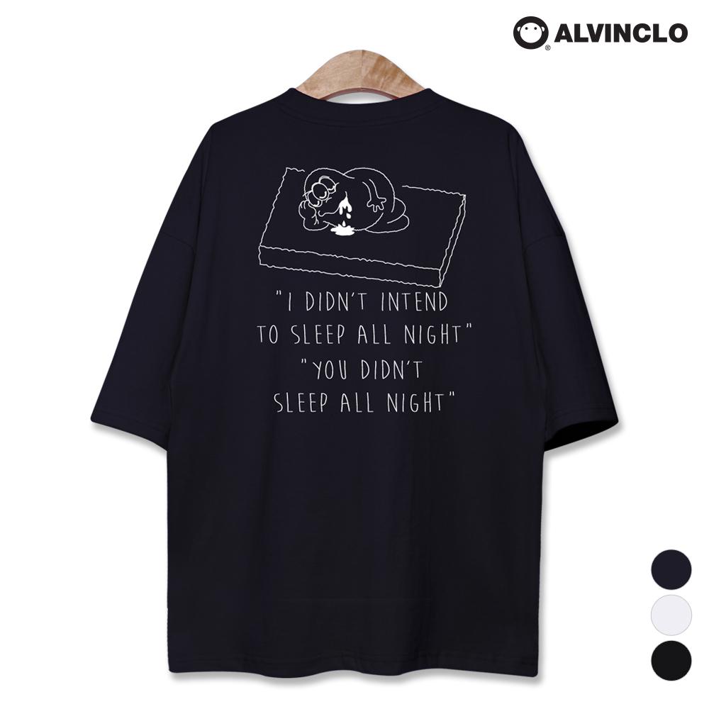 앨빈클로 귀여운 슬립 몬스터 오버핏 반팔티셔츠 AST3116N