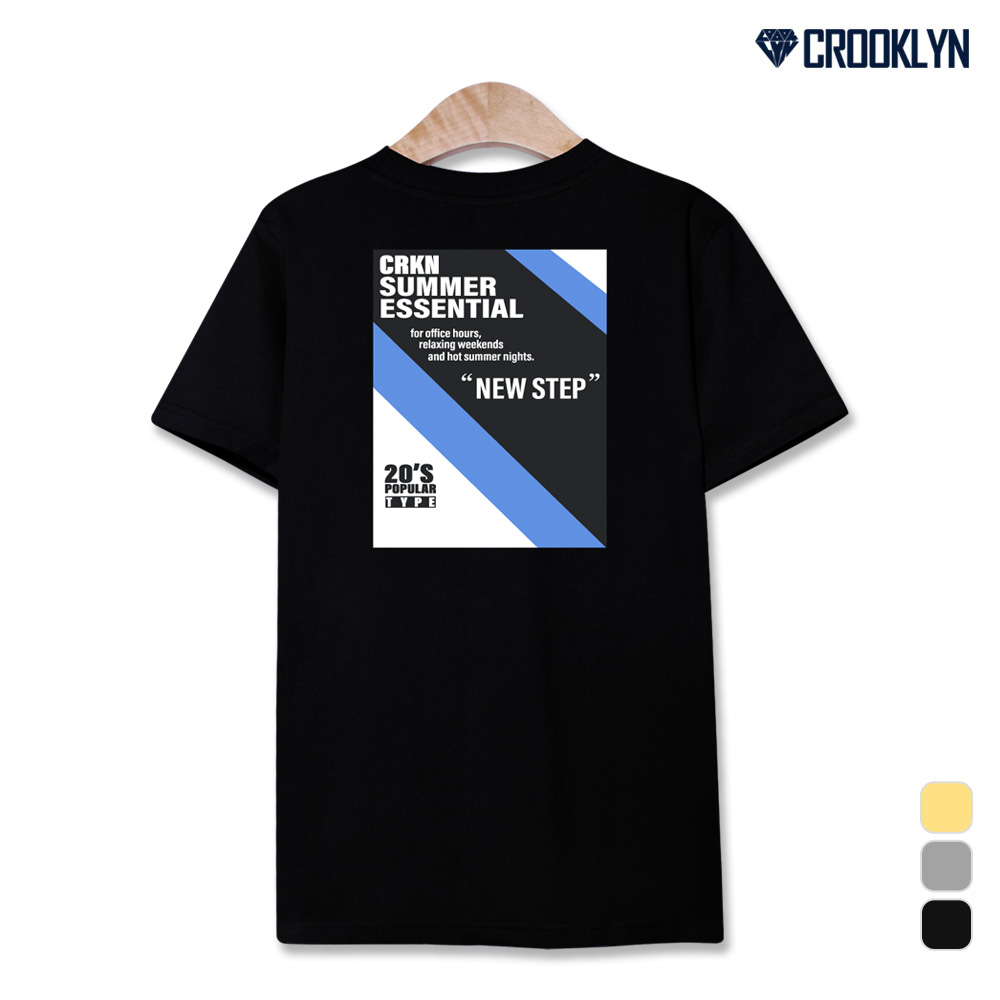 크루클린 썸머 에센셜 페이퍼 프린트 반팔티셔츠 TRS253