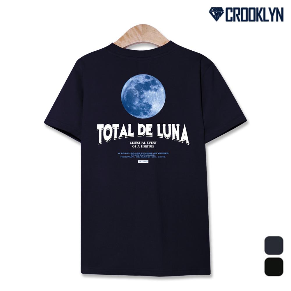 크루클린 몽환적인 달 루나 프린트 반팔티셔츠 TRS281