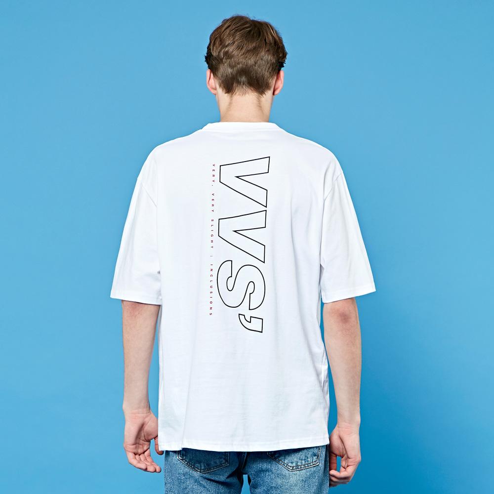크루클린 남녀 VVS 오버핏 프린트 반팔 티셔츠 TRS036