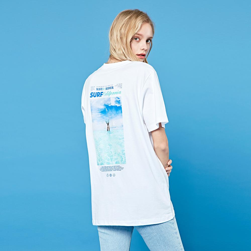 크루클린 남녀 서프 전사나염 반팔 티셔츠 TRS043
