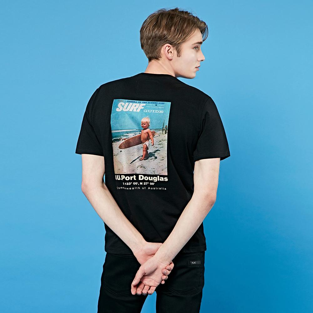 크루클린 베이비 서핑 전사나염 반팔 티셔츠 TRS044