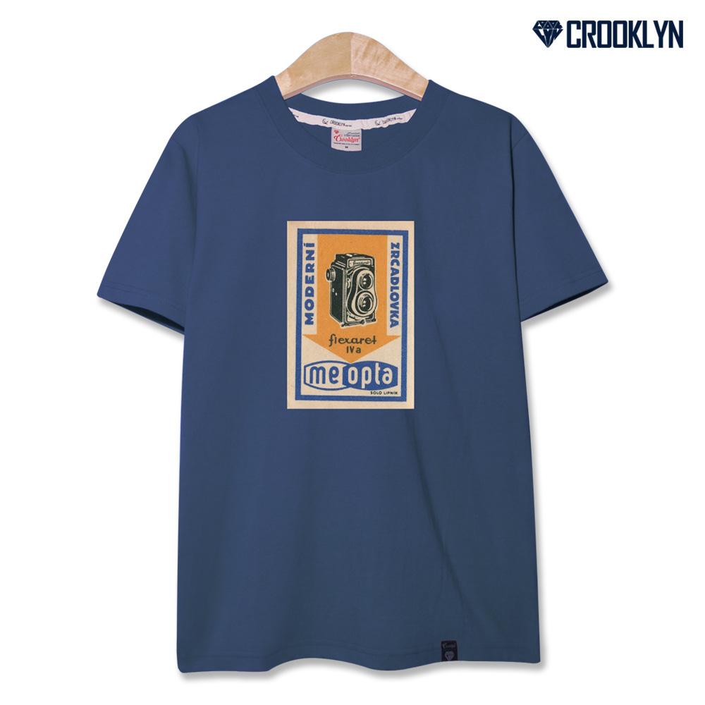 크루클린 빈티지 포스터 전사나염 반팔 티셔츠 TRS063