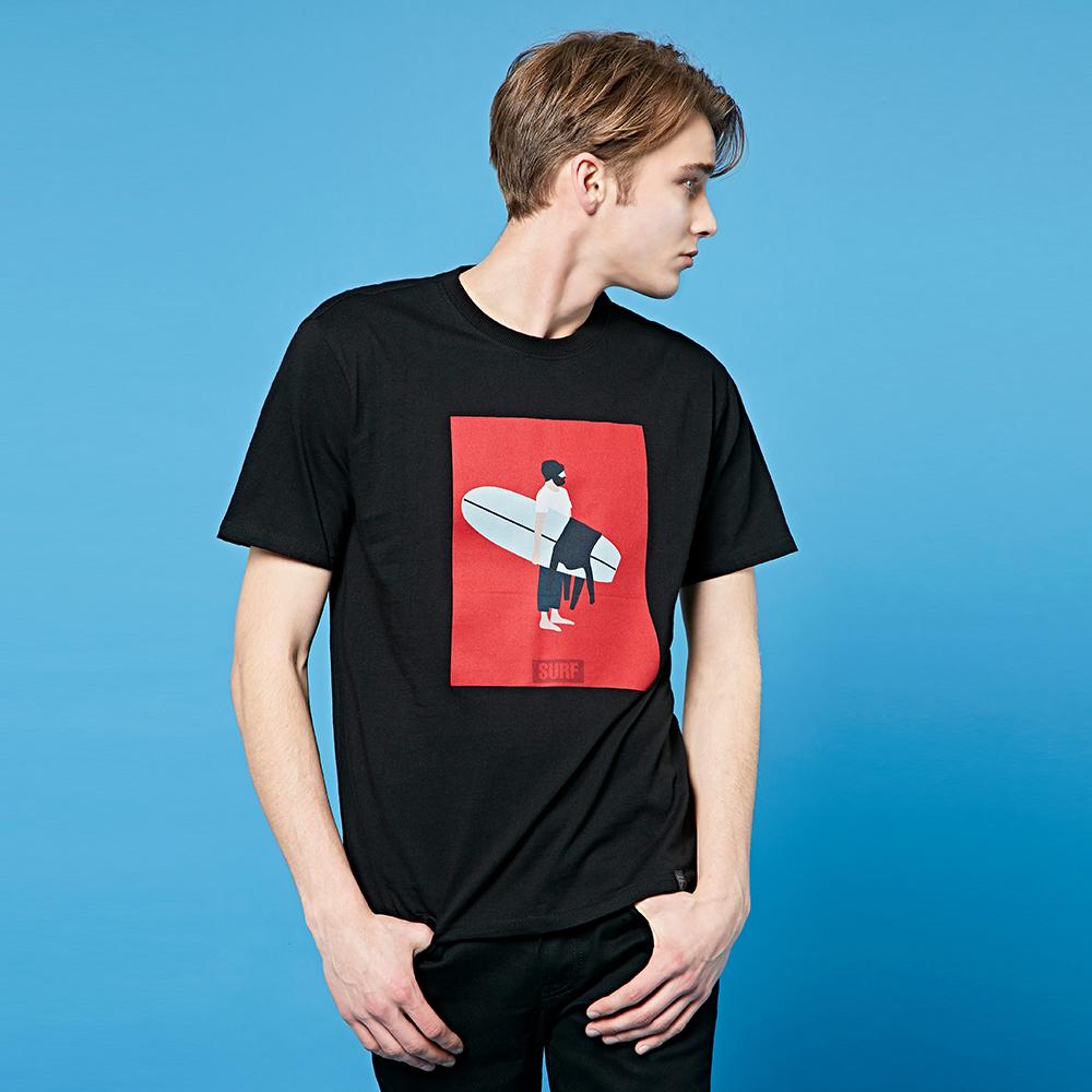 크루클린 남녀공용 서퍼 전사나염 반팔 티셔츠 TRS041
