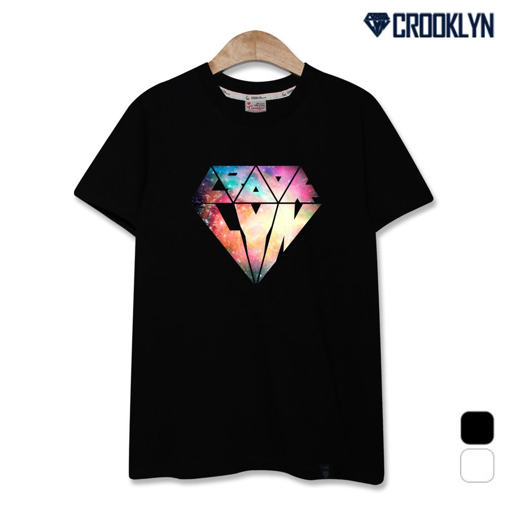 크루클린 남녀 우주 다이아몬드 반팔 티셔츠 TRS157