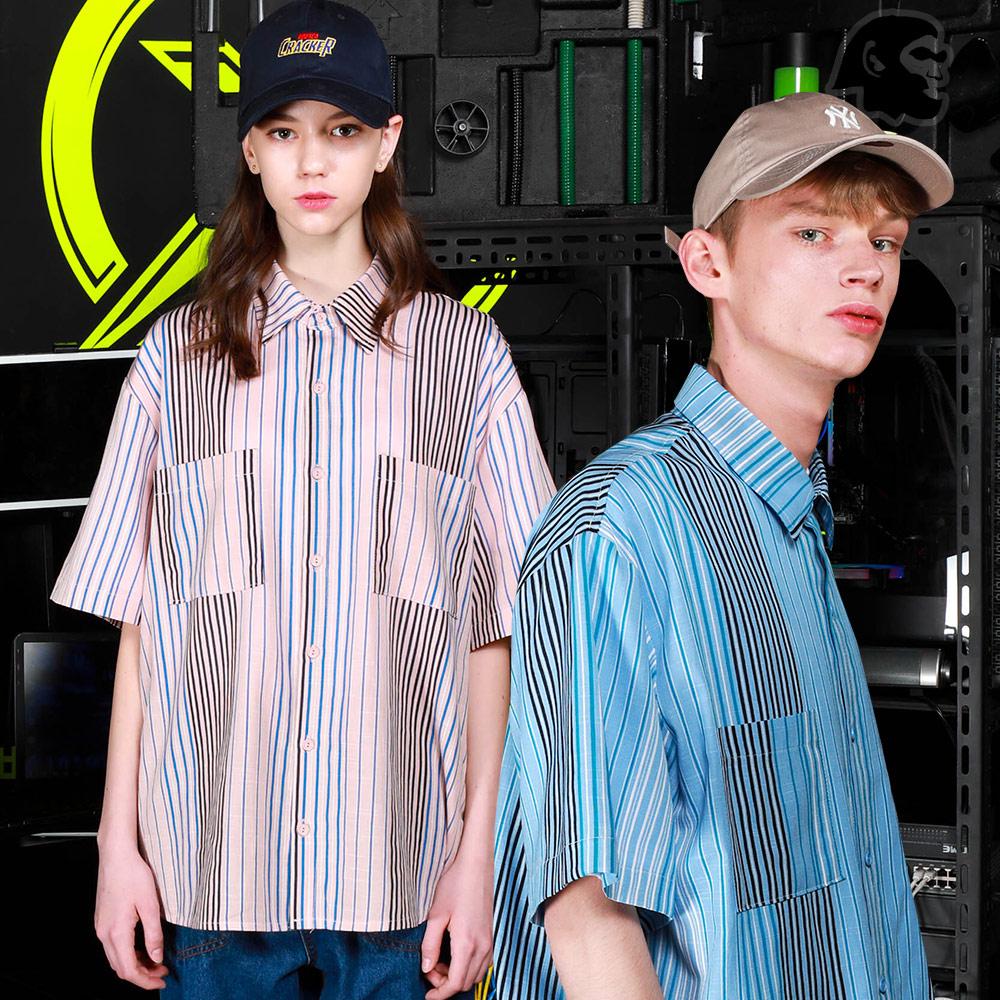 [기획특가][퍼스텝] 오버그로우 반팔 셔츠 3종 MSSS4254
