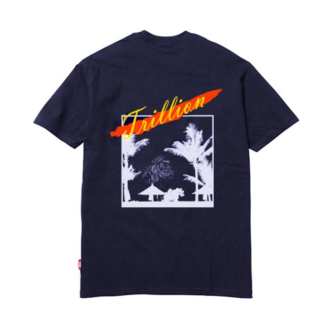 트릴리온 아트워크 오버핏 반팔 티셔츠 NAVY - IN8STS012