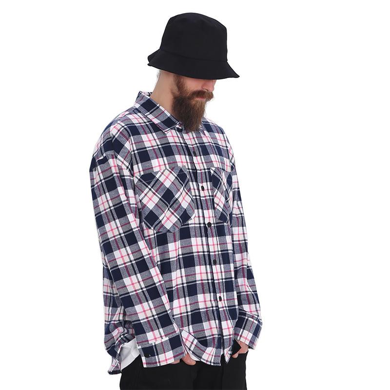 ROCKPSYCHO(V) overfit check shirt / 락사이코(V) 오버핏 체크셔츠