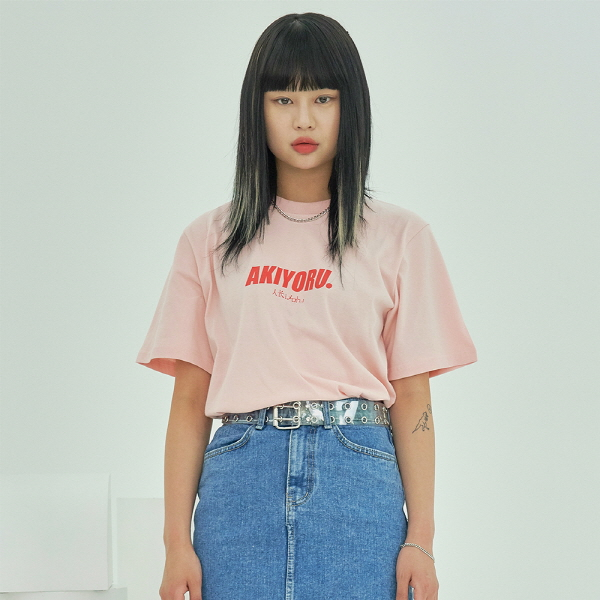 19 아키요루 로고 반팔티 (핑크)