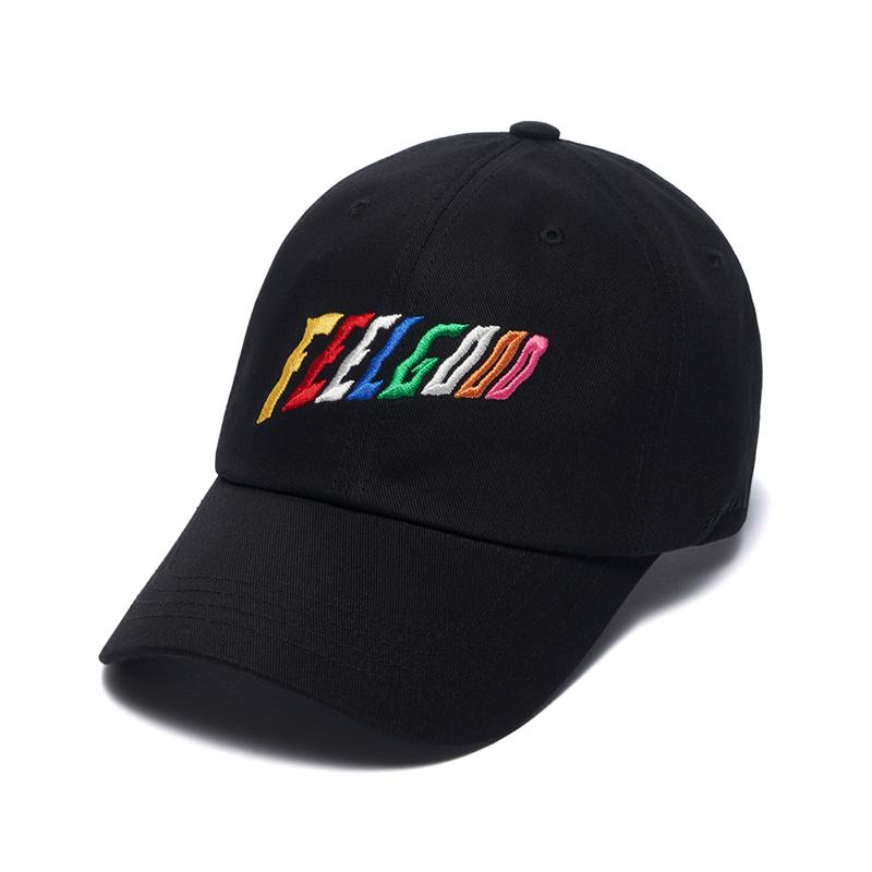 [시즌오프]STIGMA RAINBOW BASEBALL CAP BLACK