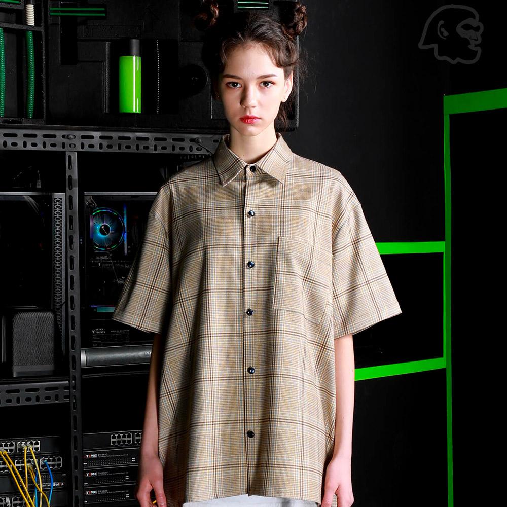[기획특가][퍼스텝] 헤이즐 체크 반팔 셔츠 SMSS4265
