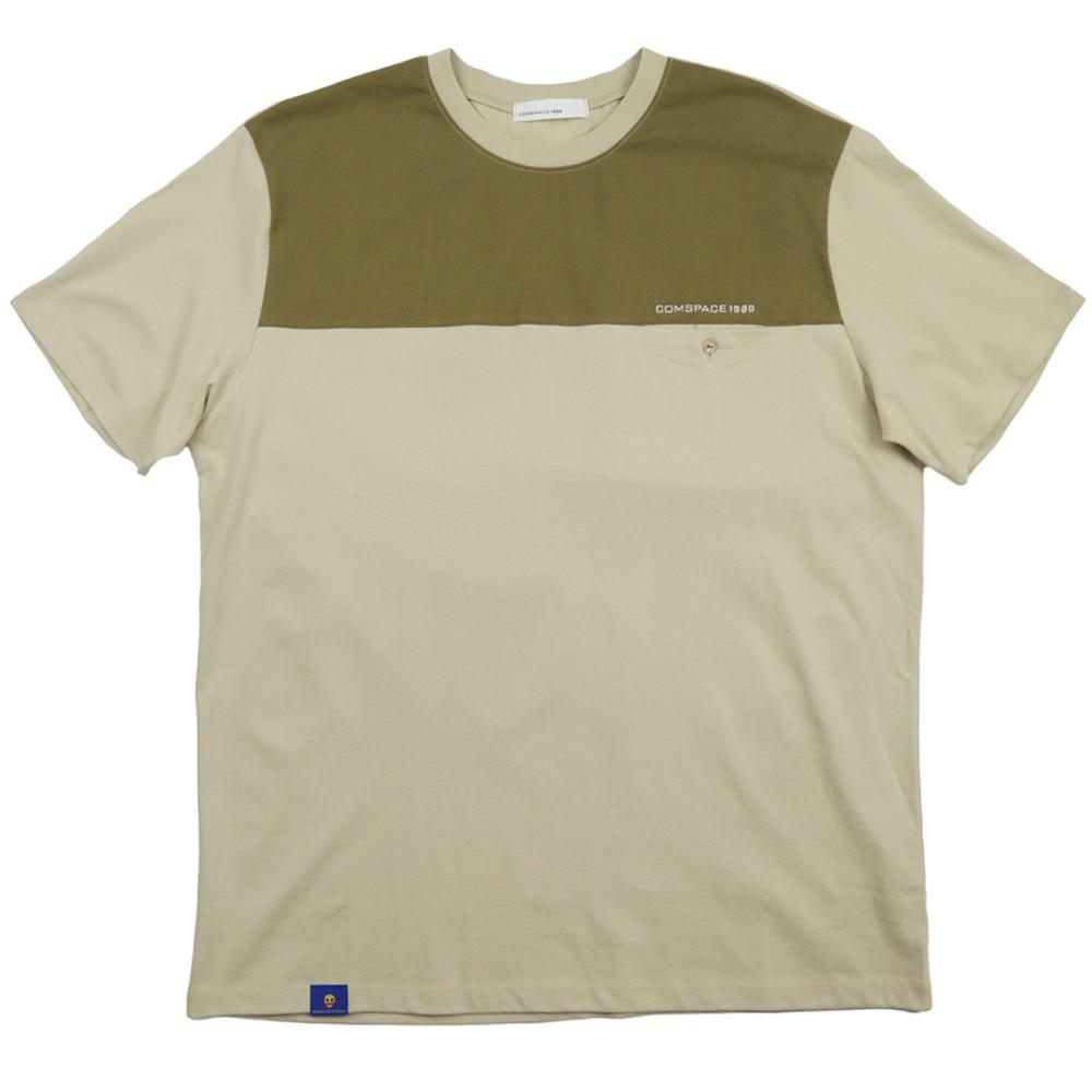 톤앤톤 라운드 티셔츠 카키