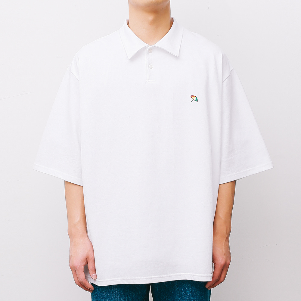[ARNOLD PALMER X ESN] Over fit PK 1/2 Tee white
