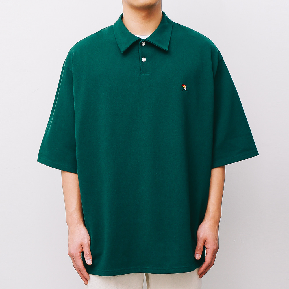 [ARNOLD PALMER X ESN] Over fit PK 1/2 Tee green