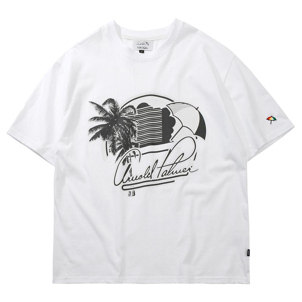 [ARNOLD PALMER X ESN] Palmbrella 1/2 Tee white