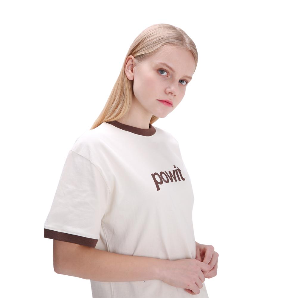 포윗 라인 배색 티셔츠(아이보리)