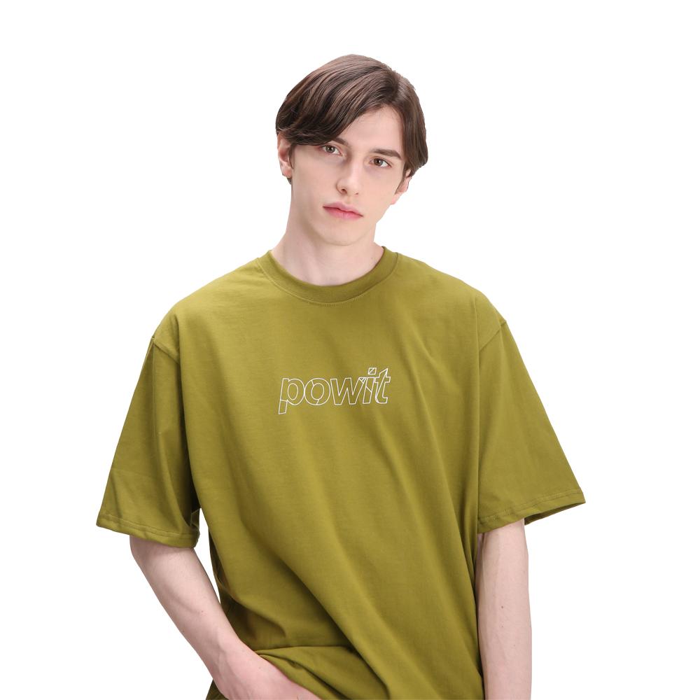 포윗 블록 로고 티셔츠(카키)