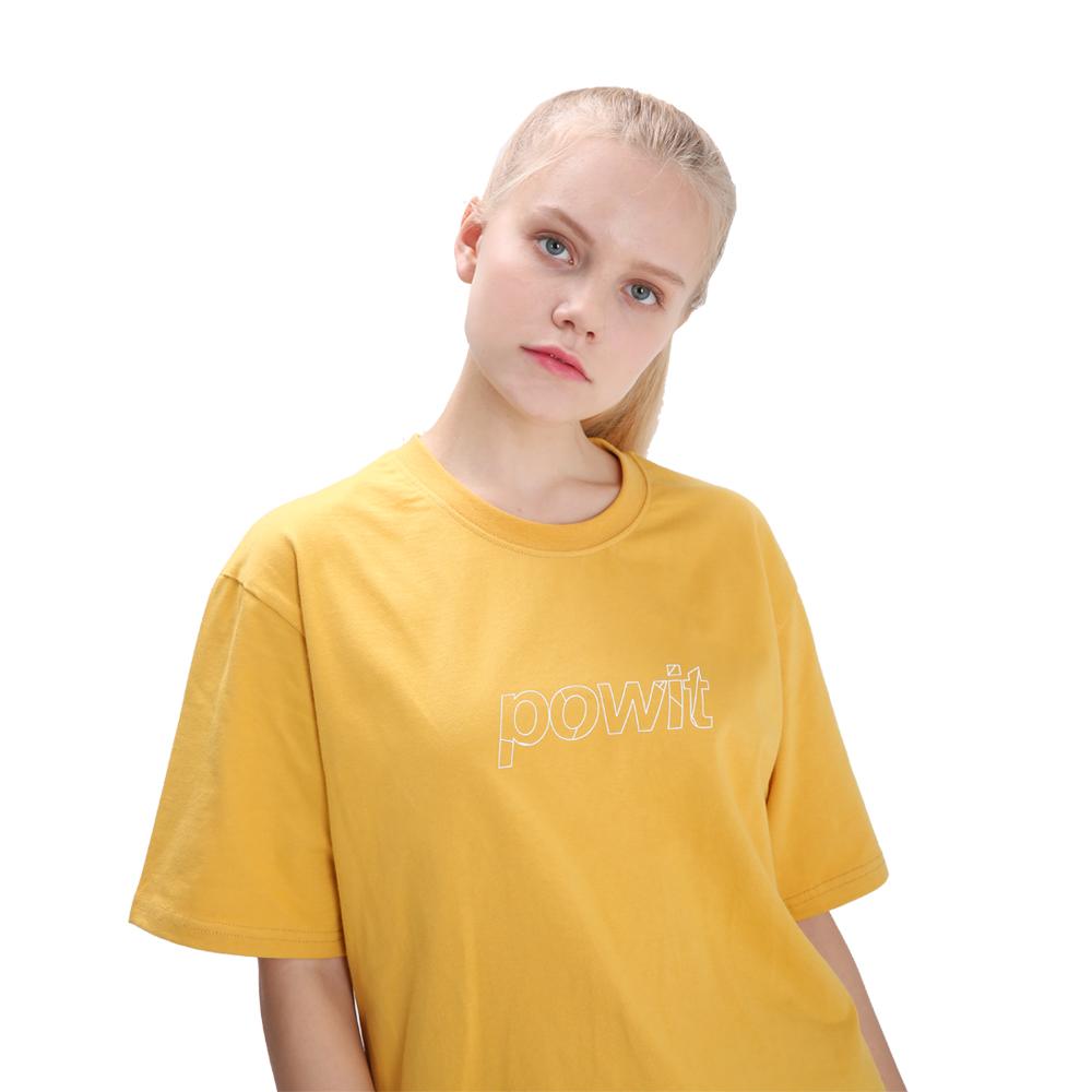 포윗 블록 로고 티셔츠(옐로우)