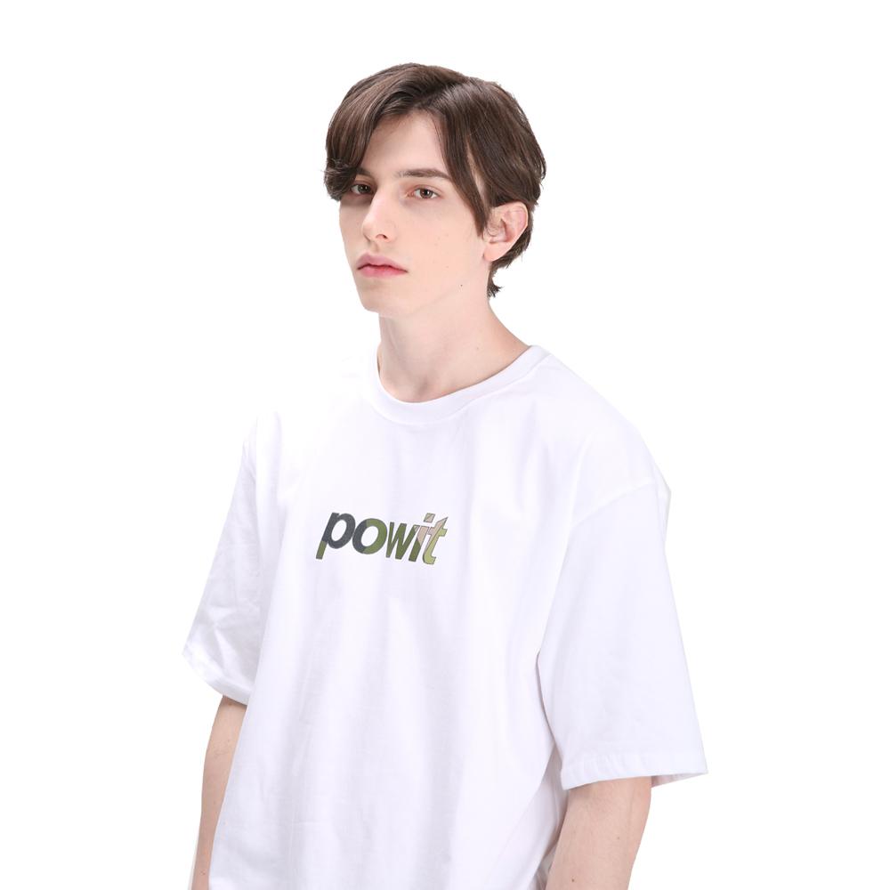 포윗 카모 로고 티셔츠(화이트)