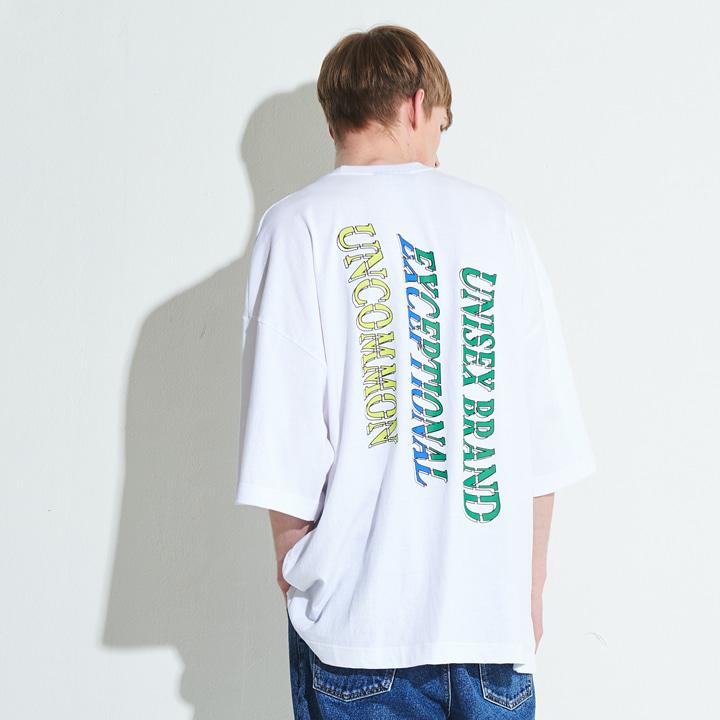 XTT006 이테르 오버사이즈 티셔츠 (WHITH)