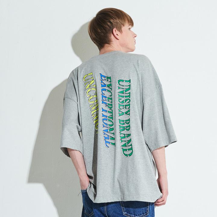 XTT006 이테르 오버사이즈 티셔츠 (GRAY)