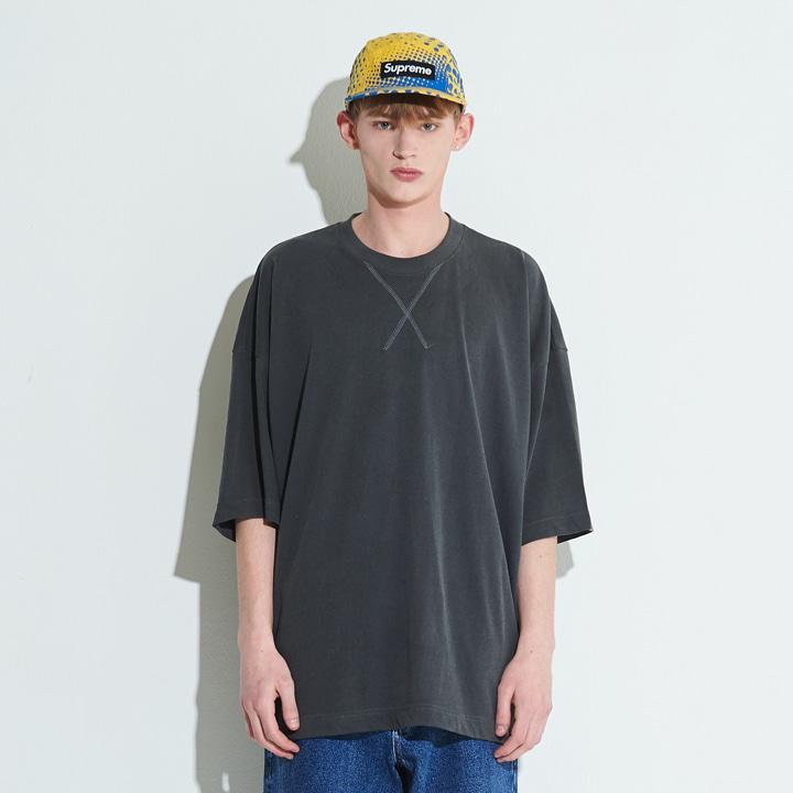 XTT004 비엔토 피그먼트 티셔츠 (CHARCOAL)