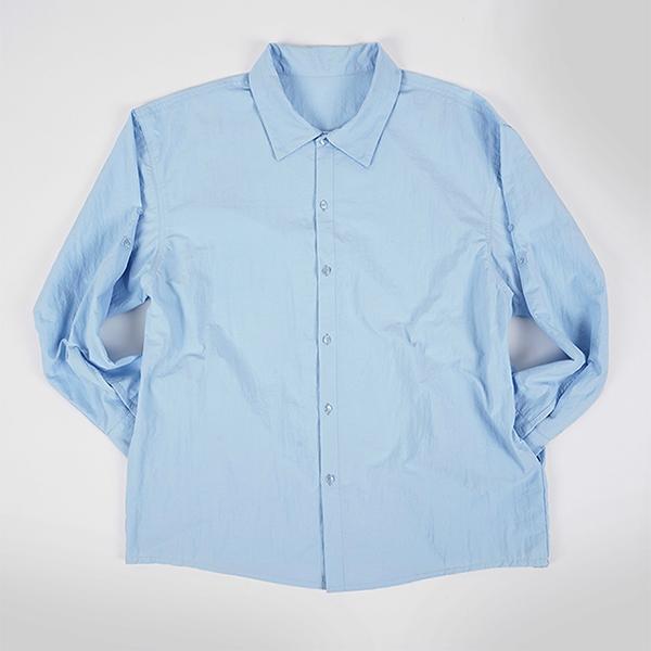 [자토] 트래블러 오버핏 셔츠 - blue