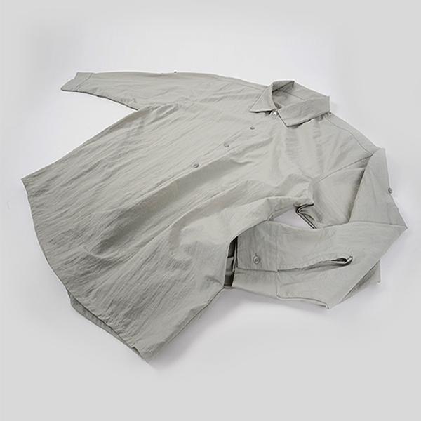 [자토] 트래블러 오버핏 셔츠 - gray