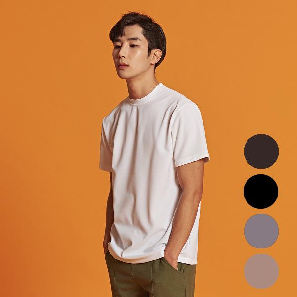 [올앤드]남성 레귤러핏 이지웨어 하프 티셔츠_LMTRI2104-100