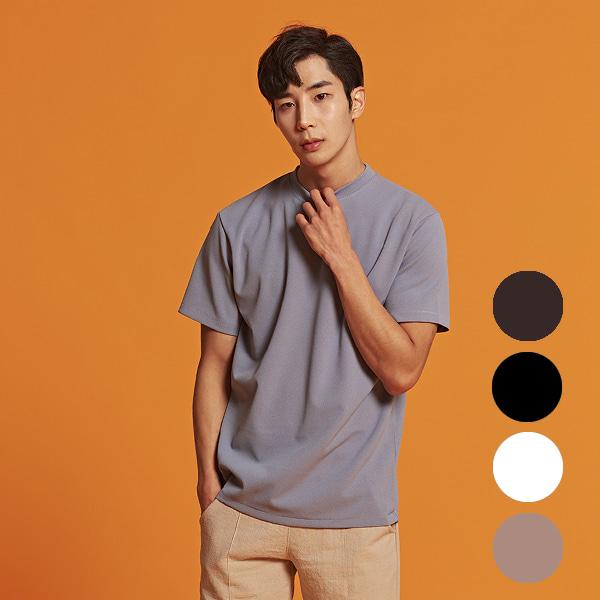 [올앤드]남성 레귤러핏 이지웨어 하프 티셔츠_LMTRI2104-906