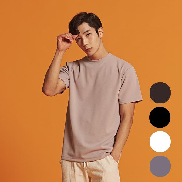[올앤드]남성 레귤러핏 이지웨어 하프 티셔츠_LMTRI2104-509