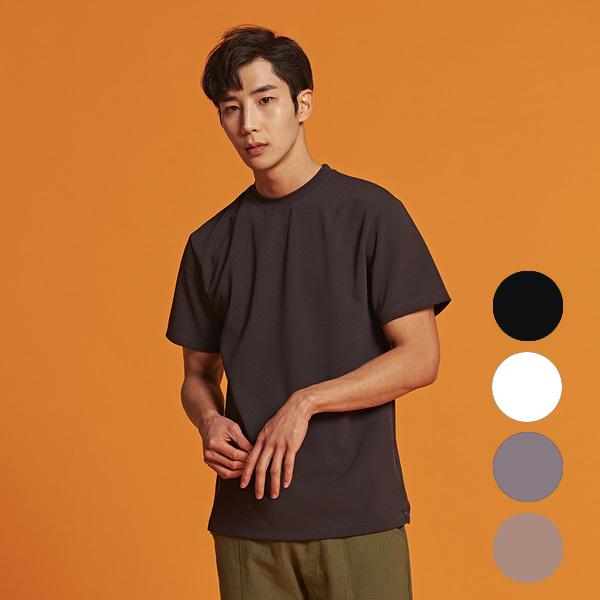 [올앤드]남성 레귤러핏 이지웨어 하프 티셔츠_LMTRI2104-194