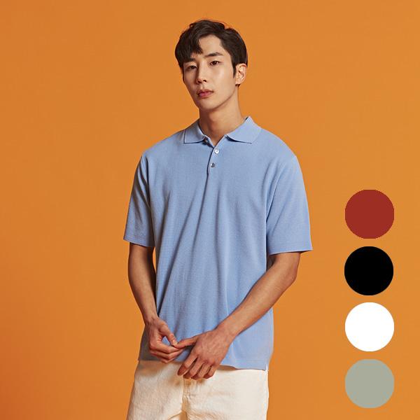 [올앤드]남성 버튼카라 하프 니트 티셔츠_LMSRI2201-920