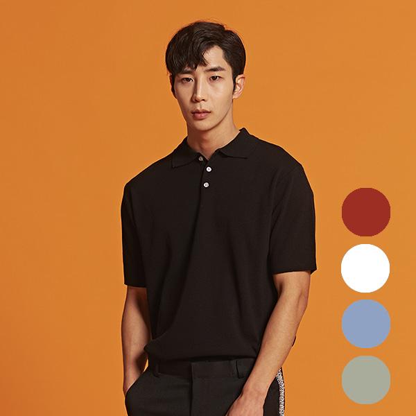 [올앤드]남성 버튼카라 하프 니트 티셔츠_LMSRI2201-199