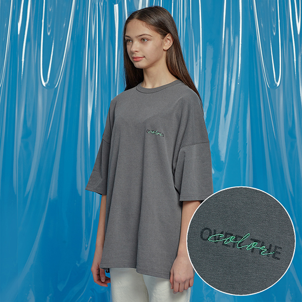 DAILY PIGMENT OVERSIZED TEE CHARCOAL