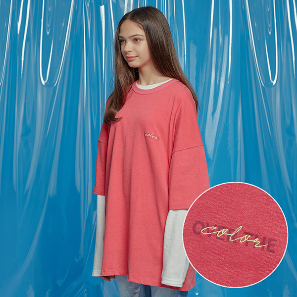 DAILY PIGMENT OVERSIZED TEE RED