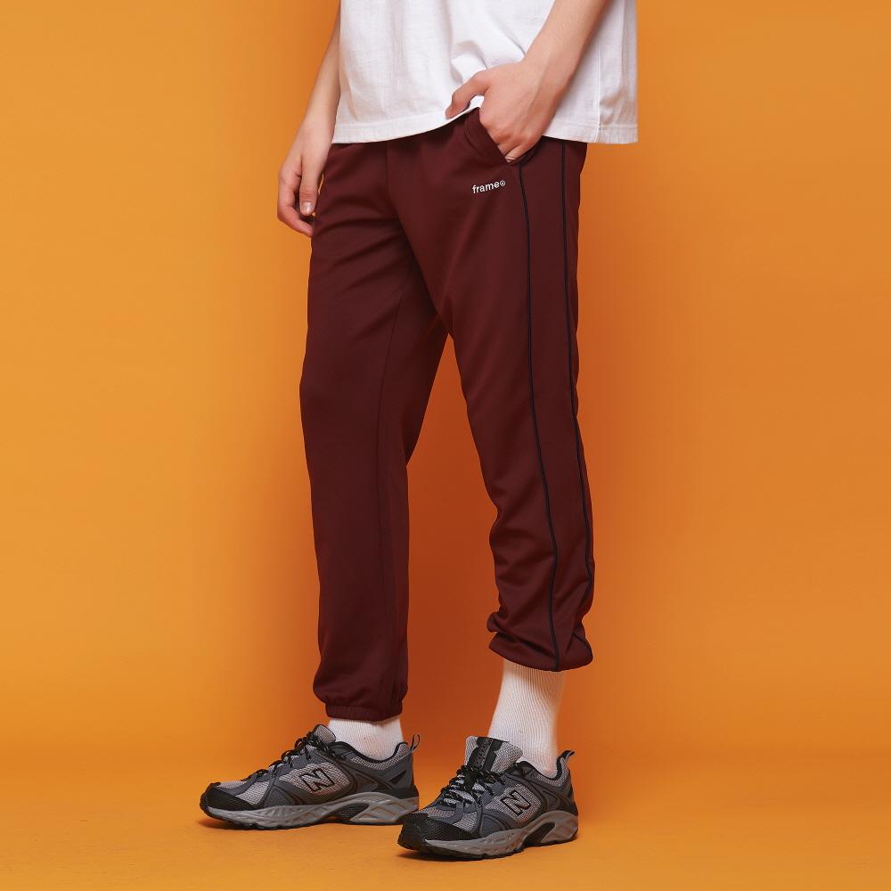 [어나더프레임] AF PIPING TRACK JOGGER PANTS (BURGUNDY)
