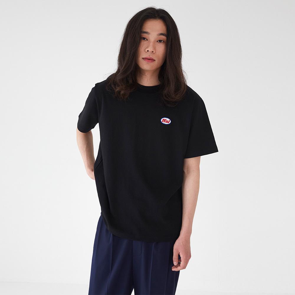 베이직 와펜 티셔츠 블랙