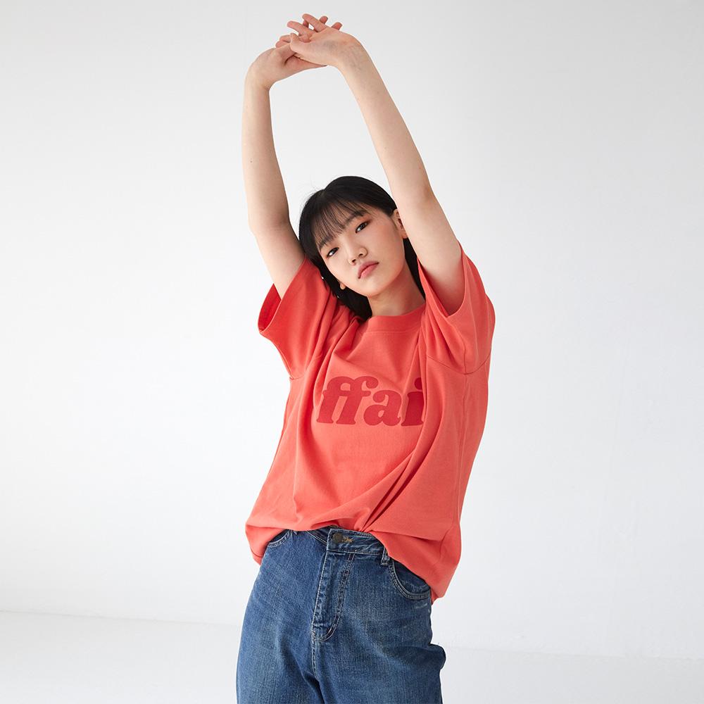빅 로고 티셔츠 오렌지