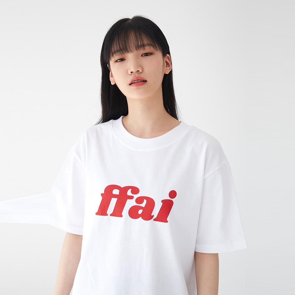 빅 로고 티셔츠 화이트