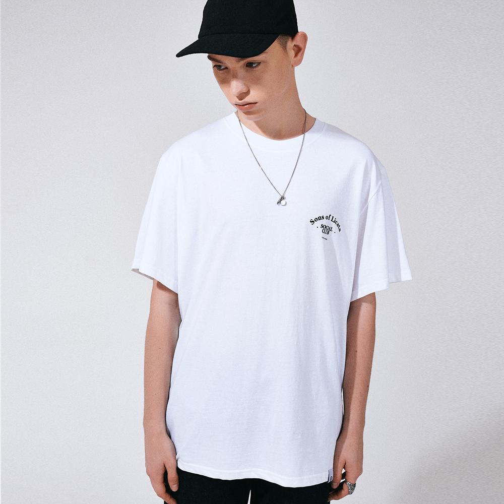 (UNISEX) 썬즈 오브 리카타 리어 아트웍 티셔츠 화이트