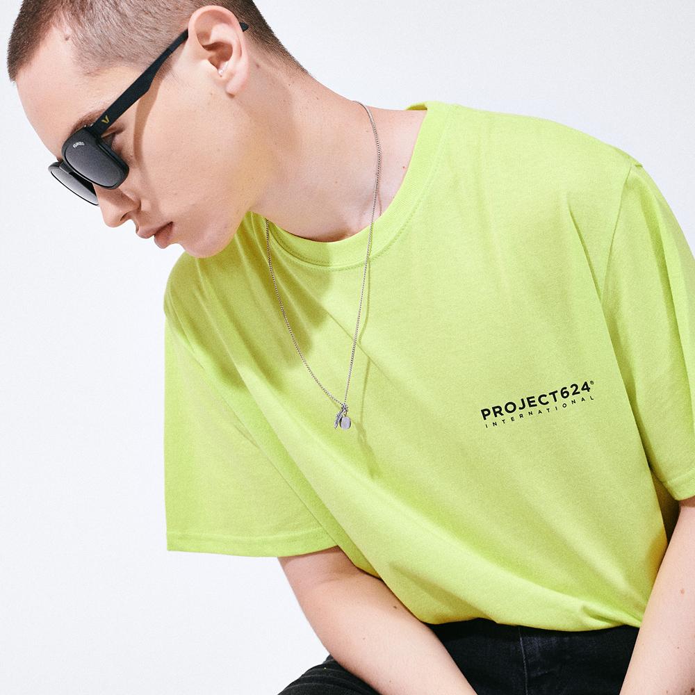(UNISEX) 인터내셔날 빅로고 티셔츠 네온라임