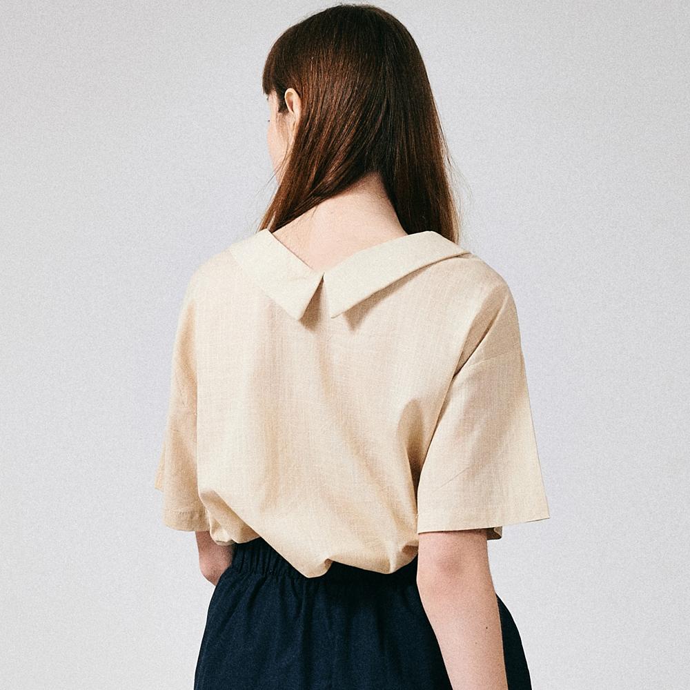 프론리어 카라 티셔츠 베이지