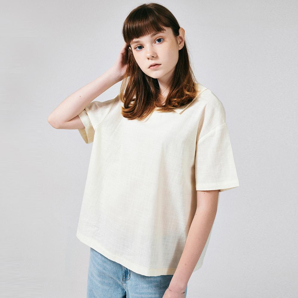 프론리어 카라 티셔츠 아이보리