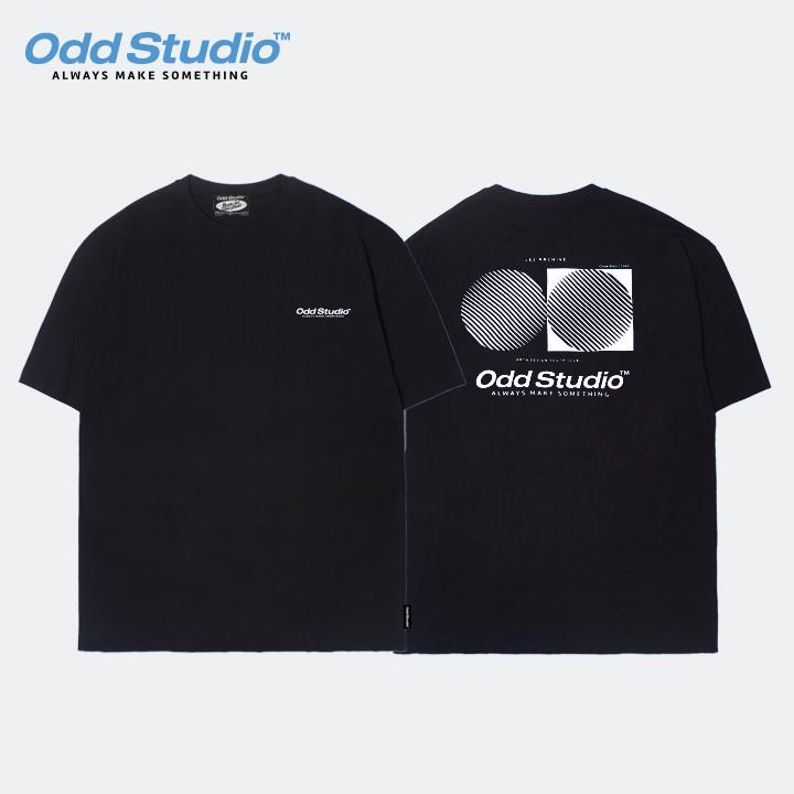 오드스튜디오 아티스틱 티셔츠 - BLACK