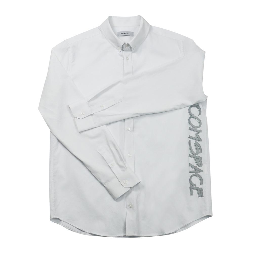 버튼다운 프린트 셔츠 화이트