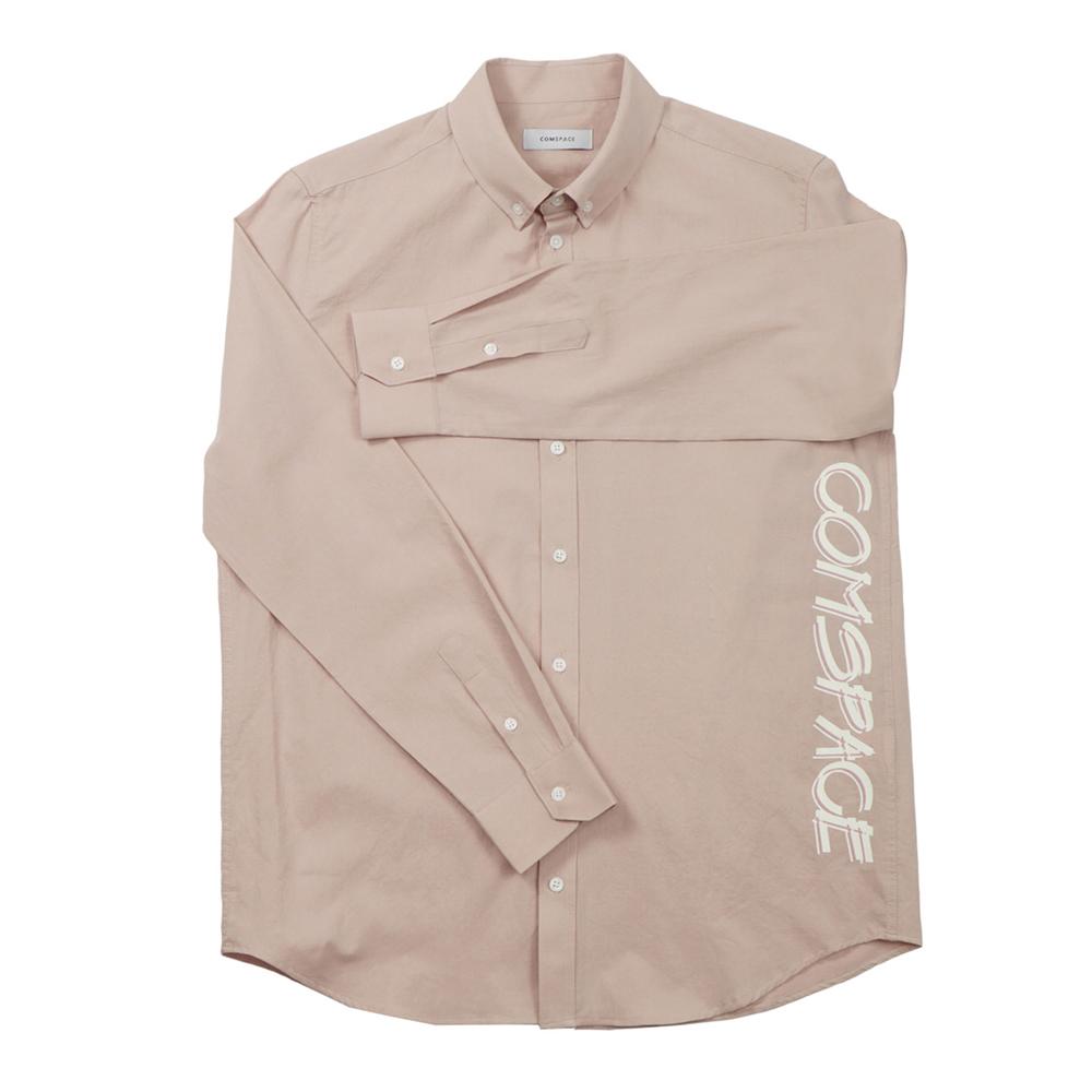 버튼다운 프린트 셔츠 핑크