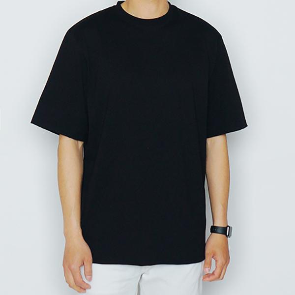 BASIC HALF TEE (BLACK)