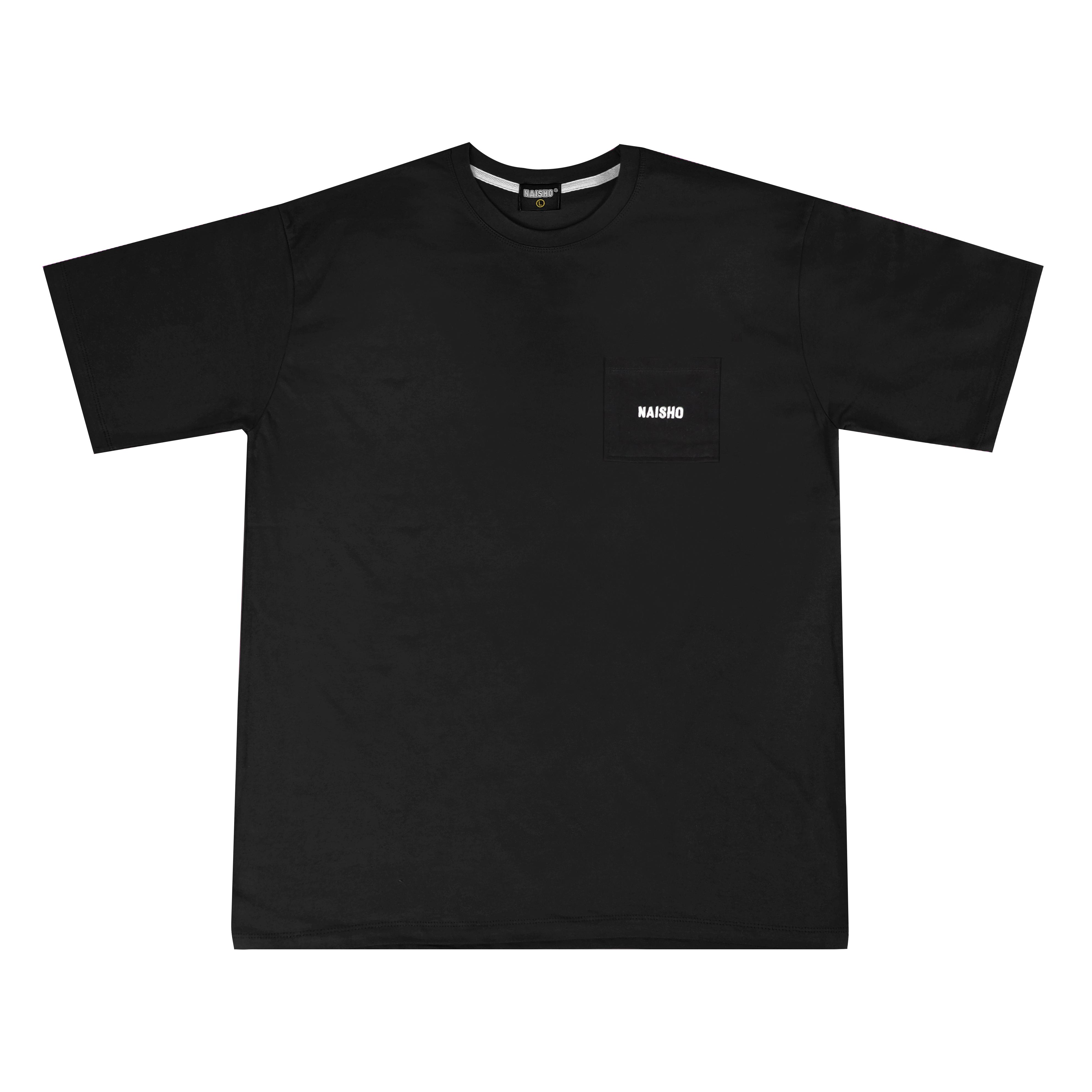 포켓 심플로고 블랙 반팔티셔츠